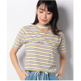 WEGO WEGO/チョーカーリブTシャツ(パープル系)【返品不可商品】