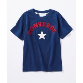 CONVERSE ロゴデザインTシャツ キッズ ネイビー
