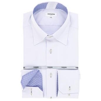 【TAKA-Q:トップス】形態安定レギュラーフィットスナップダウンテンセルビジネスドレスシャツ