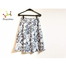 ハロッズ HARRODS スカート サイズ1 S レディース 美品 ダークネイビー×白 花柄 新着 20190515