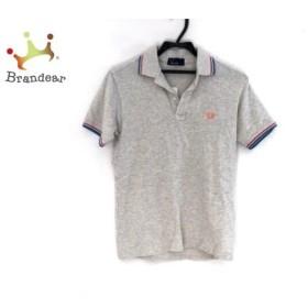 フレッドペリー 半袖ポロシャツ サイズS レディース ライトグレー×ライトブルー×ピンク  値下げ 20190810