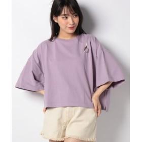 (WEGO/ウィゴー)WEGO/ショルダーリングジップTシャツ/レディース パープル