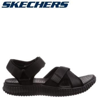 スケッチャーズ SKECHERS エリート フレックス サンダル スポーツサンダル メンズ ELITE FLEX LINSTON ブラック 黒 51722