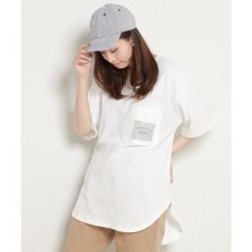 [マルイ]【セール】ラバープリント胸ポケット付裾ラウンドBIG Tシャツ/レイカズン(RAY CASSIN)