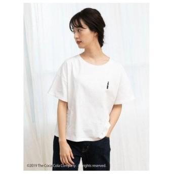 アースミュージックアンドエコロジー earth music&ecology CocaーCola/earthワンポイントTシャツ (Off White)