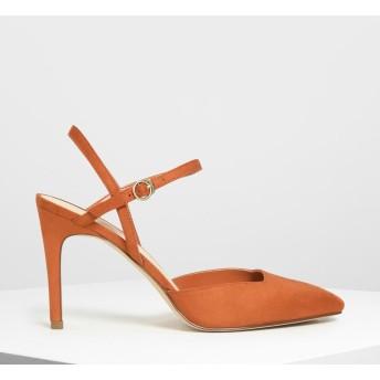 アンクルストラップ カバードヒール / Ankle Strap Covered Heels (Orange)