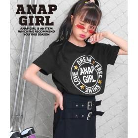 【セール開催中】ANAP GiRL(ティーンズ)ラウンド星ロゴトップス