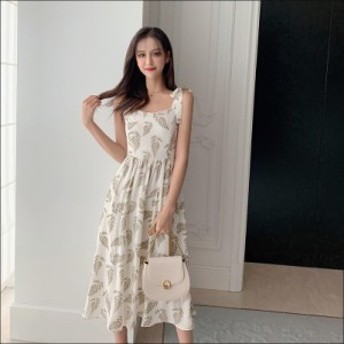 可愛い リボン オシャレ ロング丈ワンピース 着痩せ 20代 30代 40代 50代 韓国風 お出かけ ファッション ワンピース タイト 大きいサイズ