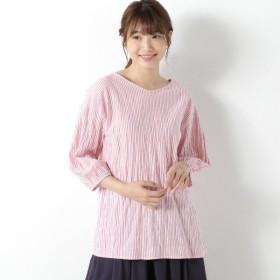 シャツ ブラウス レディース やわらかコットンストレッチブラウス【M〜4L】 「ピンク」
