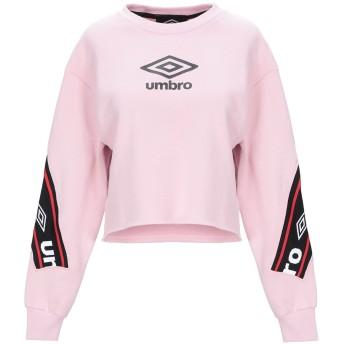 《期間限定セール開催中!》UMBRO レディース スウェットシャツ ピンク XS コットン 100%