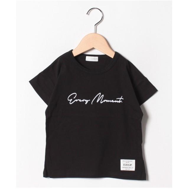 b-ROOM フロッキーゆるTシャツ(ブラック)【返品不可商品】