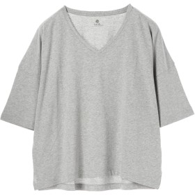 【5,000円以上お買物で送料無料】・BIGシルエットVネックTシャツ