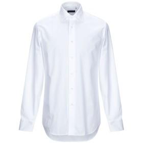 《期間限定セール開催中!》ZANETTI 1965 メンズ シャツ ホワイト 39 コットン 100%