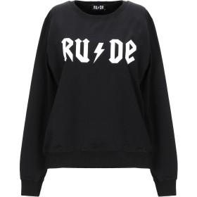 《期間限定セール開催中!》RUDE レディース スウェットシャツ ブラック M コットン 100%