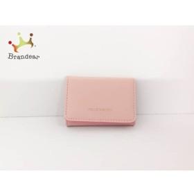 ジルスチュアート JILL STUART 3つ折り財布 ピンク レザー   スペシャル特価 20190816
