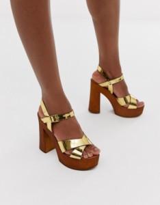 靴 Acid weave レディース シューズ エイソス 【ASOS DESIGN Sunset knotted ball heels in multi weave】