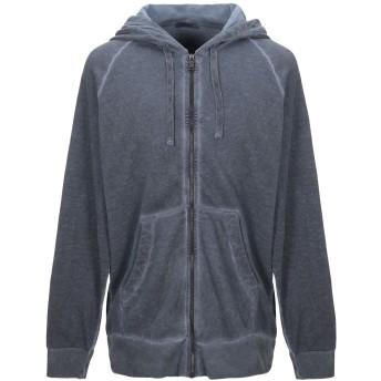 《期間限定セール開催中!》CROSSLEY メンズ スウェットシャツ ブルーグレー L コットン 100%
