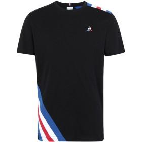 《期間限定 セール開催中》LE COQ SPORTIF メンズ T シャツ ブラック M コットン 100% TRI Tee SS N°10