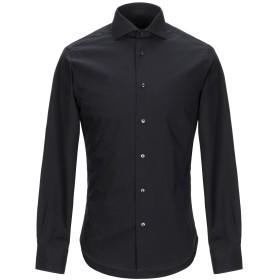 《送料無料》ZANETTI 1965 メンズ シャツ ブラック 38 コットン 100%