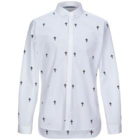 《セール開催中》NEIL BARRETT メンズ シャツ ホワイト 39 コットン 100%