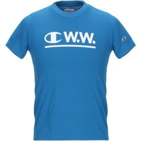 《期間限定 セール開催中》CHAMPION x WOOD WOOD メンズ T シャツ アジュールブルー XS コットン 100%