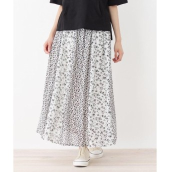 SHOO・LA・RUE / シューラルー 小花切り替えロングスカート