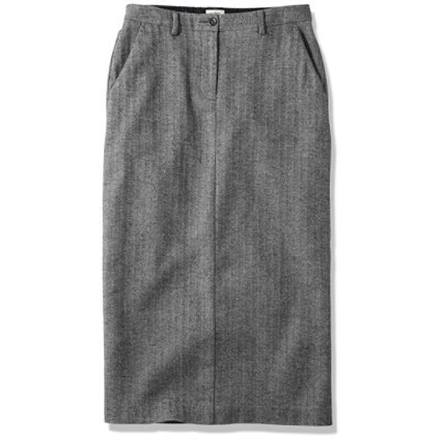ウィークエンド・ミッド・レングス・スカート、ヘリンボーン/Weekend Middle Length Skirt Herringbone