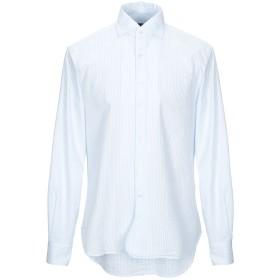 《期間限定セール開催中!》DOPPIAA メンズ シャツ スカイブルー 40 コットン 100%