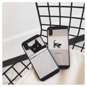 送料0★猫 モノクロ モダン 2色 iPhone6 iPhone7 iPhone8 iPhoneX iPhoneXS iPhoneXS iPhone ケース
