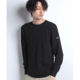 (AIGLE/エーグル)裾ラウンドワッフルロングスリーブTシャツ/メンズ NOIR
