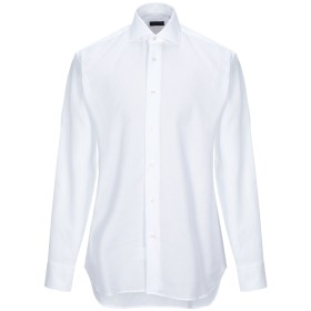 《期間限定セール開催中!》ZANETTI 1965 メンズ シャツ ホワイト 40 コットン 100%
