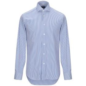《期間限定セール開催中!》ZANETTI 1965 メンズ シャツ ブルー 39 コットン 72% / ナイロン 25% / ポリウレタン 3%