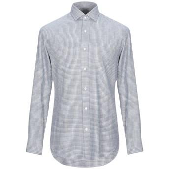 《セール開催中》SALVATORE PICCOLO メンズ シャツ ブルー 41 コットン 100%