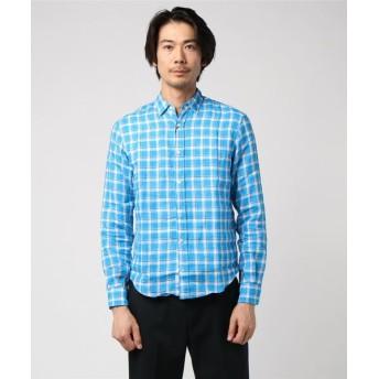 FRANK & EILEEN / PAUL カジュアルチェックシャツ ブルー系その他/XX-SMALL(エストネーション)◆メンズ シャツ/ブラウス