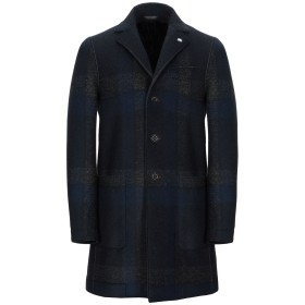 《期間限定 セール開催中》MANUEL RITZ メンズ コート ダークブルー 46 ポリエステル 60% / アクリル 25% / バージンウール 12% / ポリウレタン 3%
