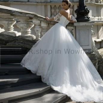 ウェディングドレス エレガントな恋人のレースのチュールのウェディングドレスビーズクリスタルサッシブライダルガウン Elegant