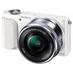 SONY ミラーレス一眼 NEX-3N パワーズームレンズキット E PZ 16-50mm F3.5-5.6 OSS付属 ホワイト NEX-3NL W 中古品 アウトレット