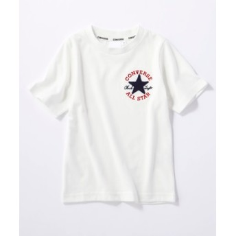 CONVERSE ロゴデザインTシャツ キッズ *ホワイト