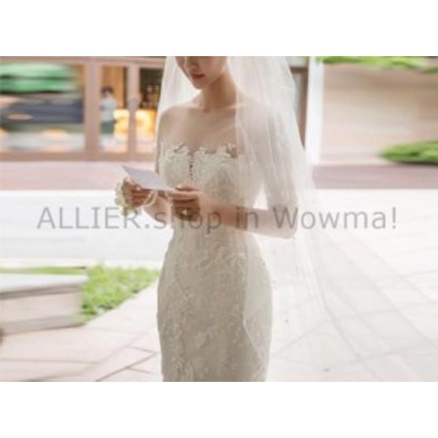 ウェディングドレス セクシーなマーメイドのイリュージョンネックレースのウェディングドレスハーフスリーブブライダルガウンカスタム  S
