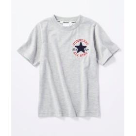 CONVERSE ロゴデザインTシャツ キッズ グレー