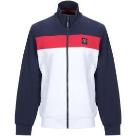 《期間限定 セール開催中》THREE STROKE メンズ スウェットシャツ ホワイト S コットン 100%