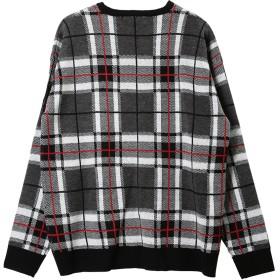 ニット・セーター - JIGGYS SHOP ◆ジャガードチェッククルーネックニット◆