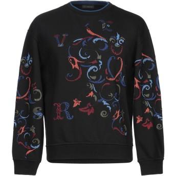 《9/20まで! 限定セール開催中》VERSACE メンズ スウェットシャツ ブラック S コットン 100% / ポリウレタン