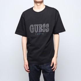 ゲス GUESS MEN'S S/SLV TEE SHIRT LOOSE FIT_TOKYO LINE (BLACK)
