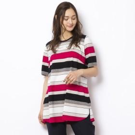 [マルイ] [大きいサイズ/L-LL]綿100%マルチボーダーTシャツ/ピサーノ(PISANO)