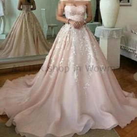ウェディングドレス ヴィンテージの新しいレースのアップリケプリンセスのウェディングドレスの花嫁衣装カスタムプラスサイズ  Vint