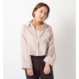 【カスタネ/Kastane】 楊柳シアーシャツ