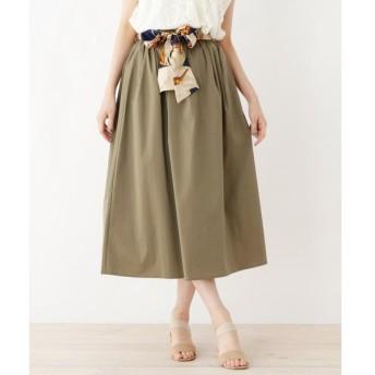 grove / グローブ スカーフベルト付きギャザースカート