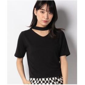 WEGO WEGO/チョーカーリブTシャツ(ブラック)【返品不可商品】