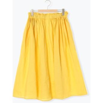 【6,000円(税込)以上のお買物で全国送料無料。】テレデランリネンギャザースカート